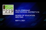 Board of Education Meeting — May 4 2021