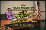 Board of Education Special Meeting – September 24, 2015