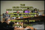 Board of Education Special Meeting — February 17, 2016