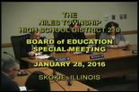 Board of Education Special Meeting — January 28, 2016