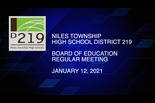 Board of Education Meeting: January 12, 2021